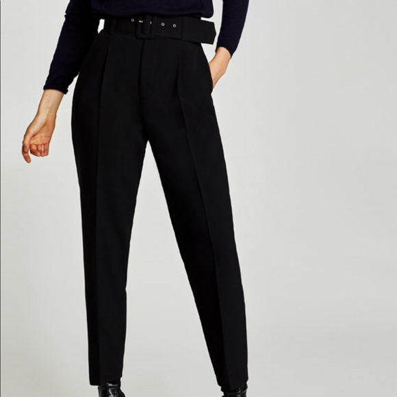 c934a6a6 Zara Belted High Waisted Pants *NEW*